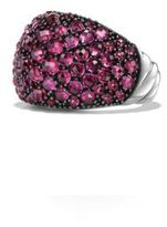 David Yurman Osetra Dome Ring with Pave Rubies