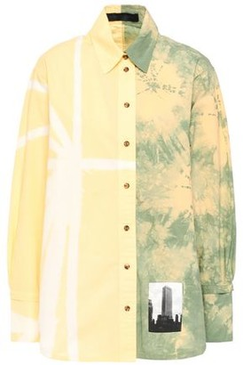 Proenza Schouler Appliqued Tie-dyed Cotton-poplin Shirt