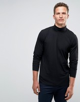 Jack and Jones Long Sleeve Roll Neck in Jersey