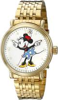 Disney Men's W001880 Minnie Mouse Analog Display Analog Quartz Gold Watch