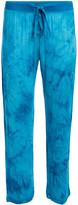 Rene Rofe Women's Sleep Bottoms ABSTRACT - Teal Abstract Double Fun Pajama Pants - Women