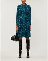 Diane von Furstenberg Dory leopard-print crepe mini dress