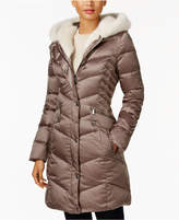 Laundry by Shelli Segal Faux-Fur-Trim Down Coat