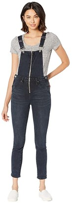 Blank NYC Overalls with Zipper Detail in Vixen