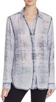 Bella Dahl Faded Plaid Button Back Shirt