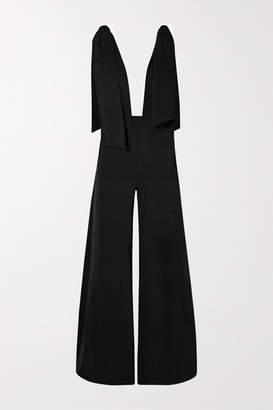 Marika Vera Lola Draped Crepe Jumpsuit - Black