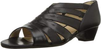 Amalfi by Rangoni Women's Demetra Wedge Sandal Black Talco 9 M US