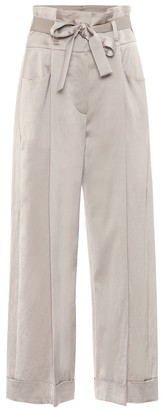 Brunello Cucinelli Exclusive to Mytheresa Satin wide-leg pants