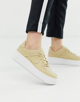 Nike beige air force 1 sage low sneakers