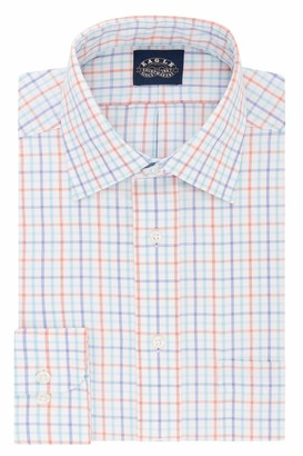 Eagle Men's Dress Shirt Regular Fit Non Iron Stretch Collar Plaid