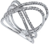 Effy Diamond Crossover Ring (5/8 ct. t.w.) in 14k White Gold
