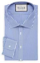 Thomas Pink Classic Fit Brooklan Traveller Striped Cotton Dress Shirt