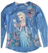 Disney Little Girls Elsa Wintery Print Long Sleeved Shirt