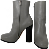 Celine Grey Leather Ankle boots
