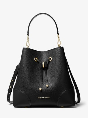 MICHAEL Michael Kors Mercer Gallery Medium Pebbled Leather Shoulder Bag