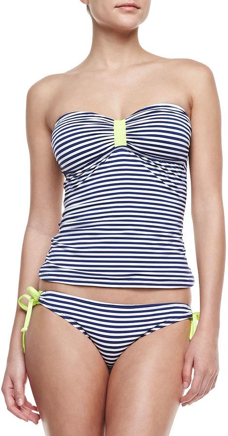 Splendid Malibu Striped Tie-Side Swim Bottom