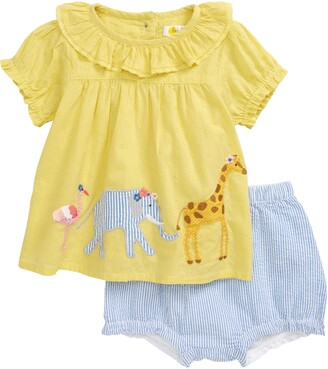Boden Applique Shirt & Shorts Set