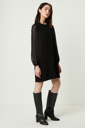 French Connection Aada Crepe Shirred Sleeve Shift Dress