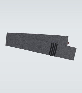 Thom Browne Full needle ribbed scarf