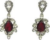 One Kings Lane Vintage Faux-Ruby & Rhinestone Cocktail Earrings