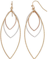 Lauren Conrad Tri Tone Open Marquise Drop Earrings