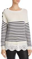 Joie Aefre Layered-Look Wool & Cashmere Sweater
