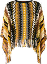 Missoni chevron knit cape