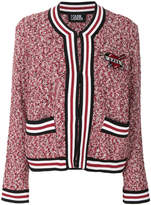 Karl Lagerfeld applique patch boucle cardigan