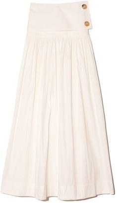 Co Drop Waist Skirt in White