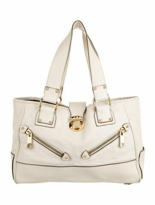 Marc Jacobs Leather Tote Bag Gold