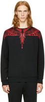 Marcelo Burlon County of Milan Black Saquin Sweatshirt