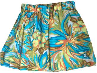 Alice & Trixie Turquoise Silk Skirt for Women