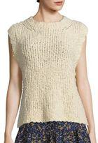 Current/Elliott Knit Sleeveless Cotton Sweater
