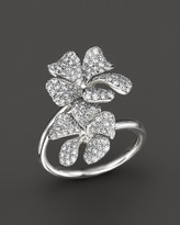 Bloomingdale's Diamond Floral Pavé Ring in 14K White Gold, 1.05 ct. t.w. - 100% Exclusive