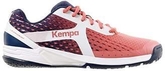Kempa Girls' Wing Women Handball Shoes Red Bordeaux/Bleu Marine/Blanc 4.5 UK