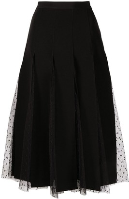 RED Valentino Point D'esprit Mid-Length Skirt