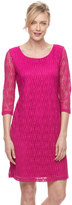 Dana Buchman Women's Lace Shift Dress