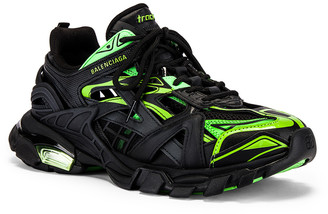 Balenciaga Track 2 Sneaker in Black & Green | FWRD
