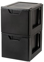 Iris Premier Stacking File Storage Drawer - 2 Pack