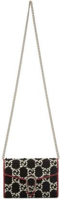 Gucci Navy Tweed Dionysus Chain Bag