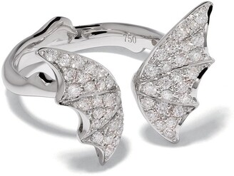 Stephen Webster 18kt white gold Fly By Night pave diamond open ring