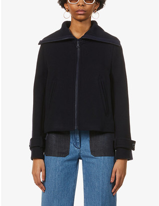 See by Chloe Funnel-neck wool-blend jacket