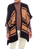 August Silk Horizontal Stripe Poncho Cardigan