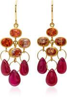 Mallary Marks Ruby 18K Gold Multi-Stone Earrings