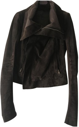 Rick Owens Brown Leather Leather Jacket for Women