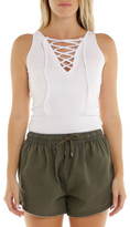 Nude Lucy Cove Lace Up Fitted Singlet