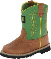 John Deere 1186 Western Boot (Toddler),Tan/Green