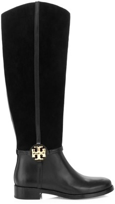 Tory Burch Miller Kee-High Leather & Suede Boots