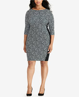 Lauren Ralph Lauren Plus Size Printed Sheath Dress