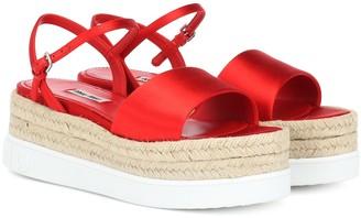 Miu Miu Satin platform sandals